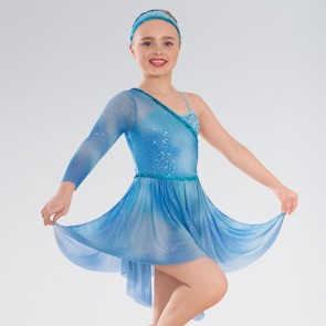 1st Position Tie Dye Sequin Asymmetric Lyrical Dress