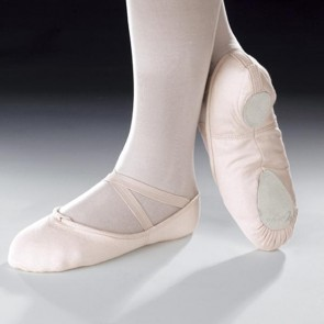 Capezio Cobra Canvas Split Sole Ballet Shoe (Pink)