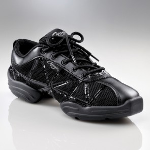 Capezio Black Patent Web Sneakers