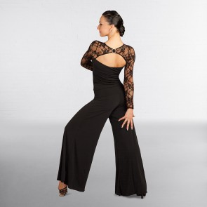 Capezio Dancesport Langarm-Spitzenoberteil