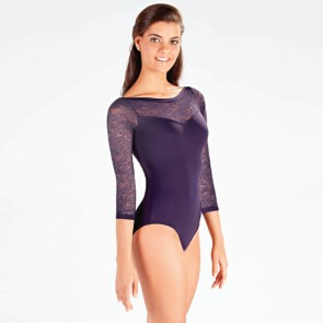 So Danca ¾ Sleeve Floral Lace Leotard