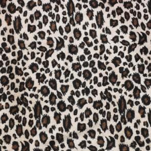 Terciopelo con estampado de leopardo