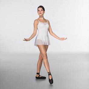 1st Position Justaucorps Fashion à Jupe et Maille Fine Blanc
