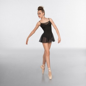 1st Position Justaucorps Fashion à Jupe et Maille Fine Noir