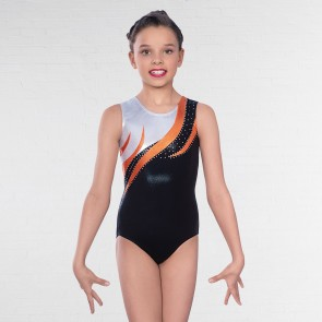 "1st Position - Maillot ""Kendall"" Sin Mangas con Diamantes"