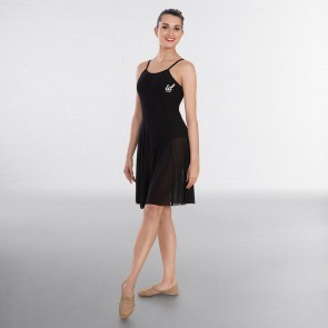 IDT Contemporary Leotard with Panelled Mesh Dress Overlay