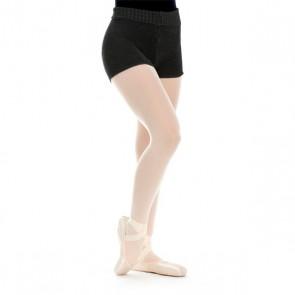 Intermezzo Shorts Noirs à Taille Repliée en Tricot Fin