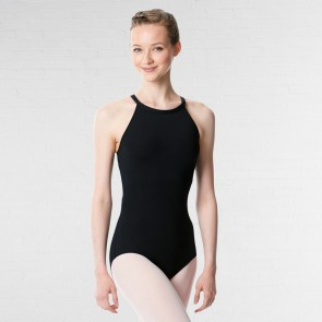 Lulli Halter Neck Microfiber Performance Leotard Ivana