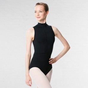 Lulli Microfiber Turtleneck Zipper Leotard Leah