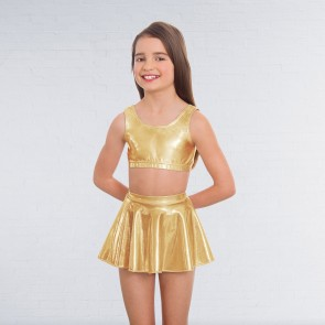 1st Position Metallic Circular Skirt Gold