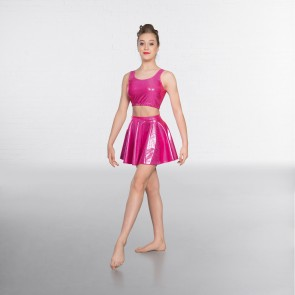 1st Position Metallic Circular Skirt Cerise