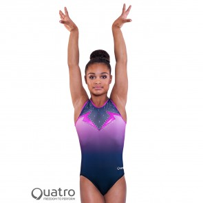 Quatro Gymnastics Mysterious Short Sleeve Leotard