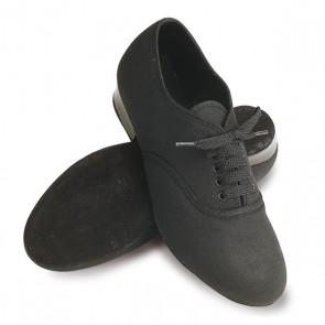 Roch Valley Boys Canvas Oxford Shoes - Black