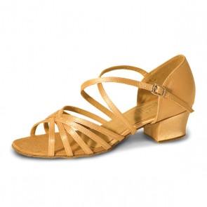 Roch Valley Bella Ballroom Satin Shoe X-Straps 1.2  inch Cuban Heel