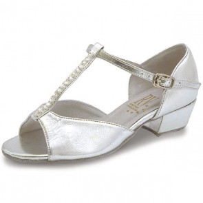Roch Valley Marika Ballroom Coag Shoe with T-Bar Straps with Diamante 1.2 inch Cuban Heel