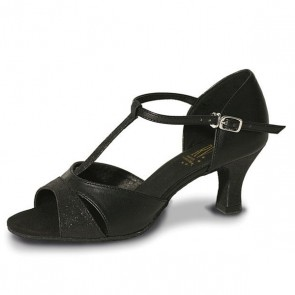 Roch Valley Priscilla Zapato de Baile de Salón de Señora Sintético con Tira en Forma de T y Tacón de 5 cm