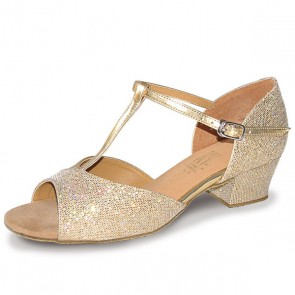 Roch Valley Stacey Ballroom Hologram Shoe with T-Bar Straps Cuban Heel