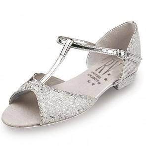 Roch Valley Stacey Zapato de Baile de Salón Holográfico con Tira en forma de T y Tacón Bajo