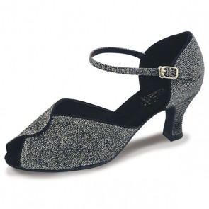 8bcda421d8 Roch Valley Sylvia Ladies Ballroom Brocade Shoe with Ankle Strap 2.2 inch  Flared Heel