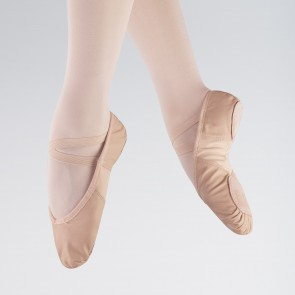 So Danca Scarpa da Balletto in Pelle con Inserto Stretch