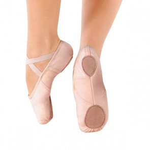 So Danca Scarpa da Balletto in Canvas con Inserto Stretch