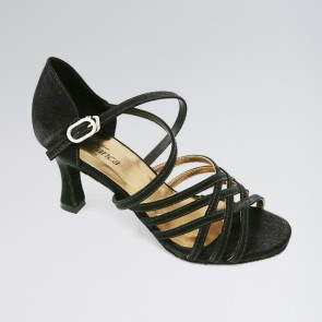 So Danca Satin Supportive Cross Straps 2.5 Inches Heel Latin Shoes