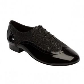 Supadance - Zapato de charol/stingray bailes de salón  negro para hombre