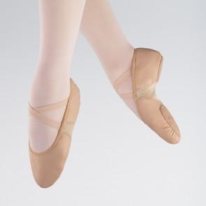 1st Position Split Sole Leather Flex Ballet Shoe