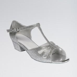 Millie Sparkling Silver Glitter Finish Childrens Shoe