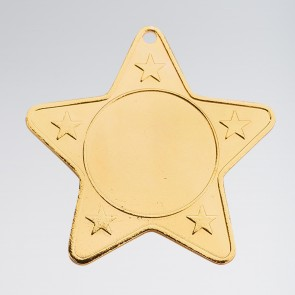 Star Shaped Medal (Takes 2.5cm centre)