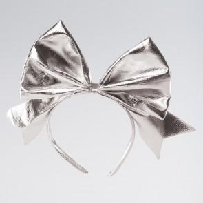 Silver Bow Headband