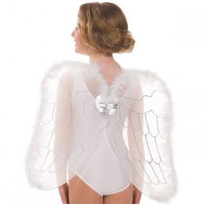 Alas blancas con diseño de plumas