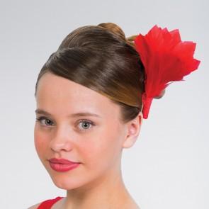 Federbüschel mit Haarklammer