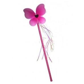 Zauberstab mit Schmetterling in pink