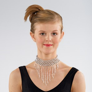 Beaded Choker with Fringe