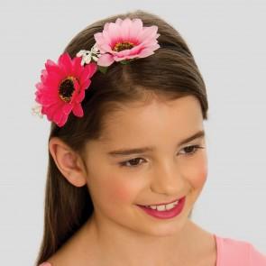 Diadema con flores rosas
