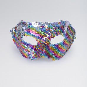 Maschera di Lustrini Metà Viso