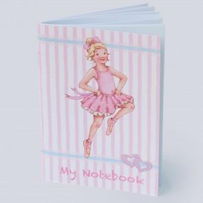 Little Ballerina Mini Notebook (Striped)