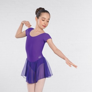 "UTD ""Milly"" Primary 1 to Level 1 Ballet Voile Skirted Cap Sleeved Violet Leotard"