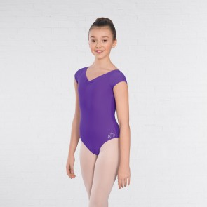 United Teachers of Dance Alice Cap Sleeved Ruched Leotard Matt Nylon