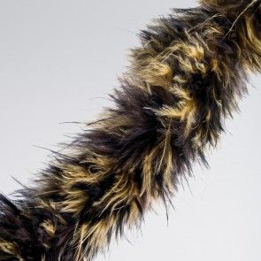 Brown/Black Animal Marabou Trim (2 Metre)