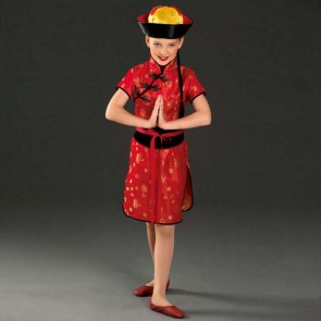 Déguisement rouge fille chinoise