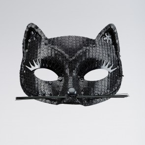 Black Sequin Cat Eyemask (replace W1770)