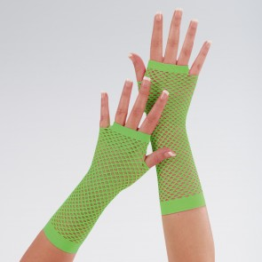 Long Fingerless Fishnet Gloves