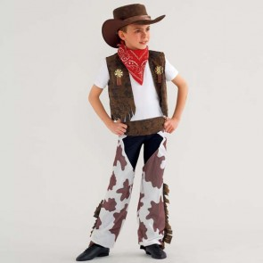 Cowboy Costume Cow Print Child