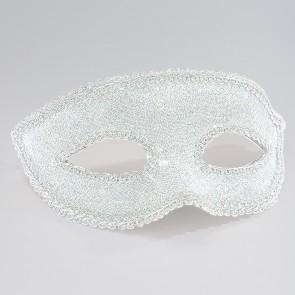 Maschera in Lurex Argentata con Passamaneria