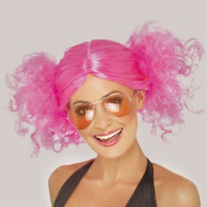 Pink Bunches Wig