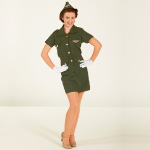 WW2 Army Lady Outfit - Adult One Size