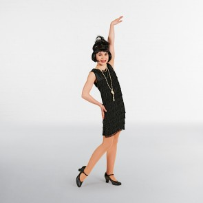Black Flapper Dress Childs
