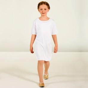 Weiße Unisex Tunika - Kinder Einheitsgröße